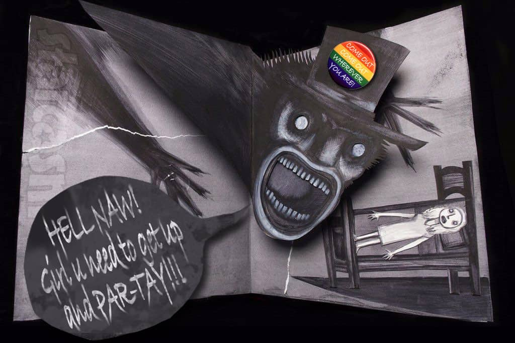 Babadook gay pride mascot