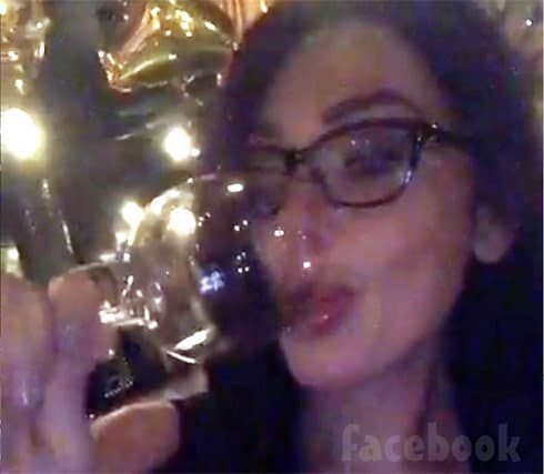 JWoww drinking Facebook Live