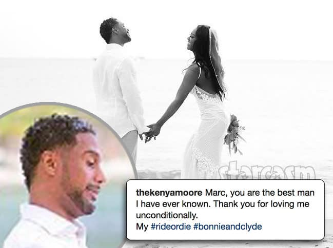 Kenya Moore husband Marc photos