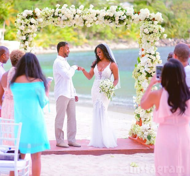 Kenya Moore husband Marc wedding photo