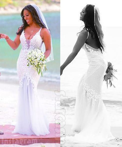 Kenya Moore wedding dress