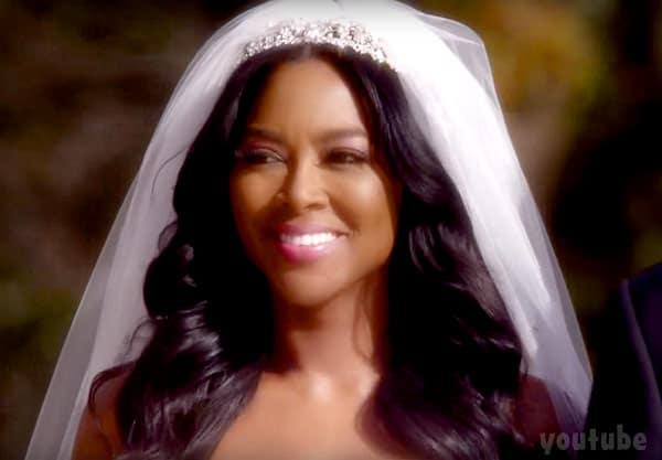 Kenya Moore wedding photo