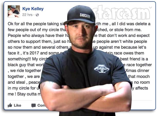Kye Kelley not a racist quote Facebook