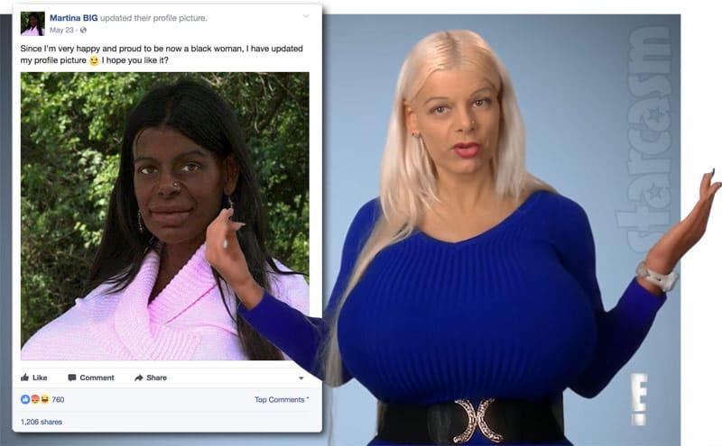 Martina Adam aka Martina BIG is now a black woman