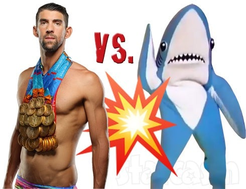 Michael Phelps versus a shark