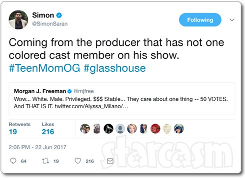 Simon Saran colored people tweet