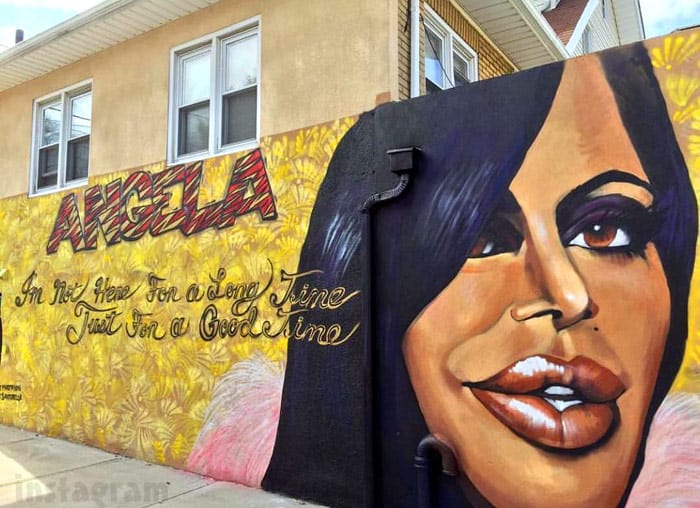 Big Ang mural New York