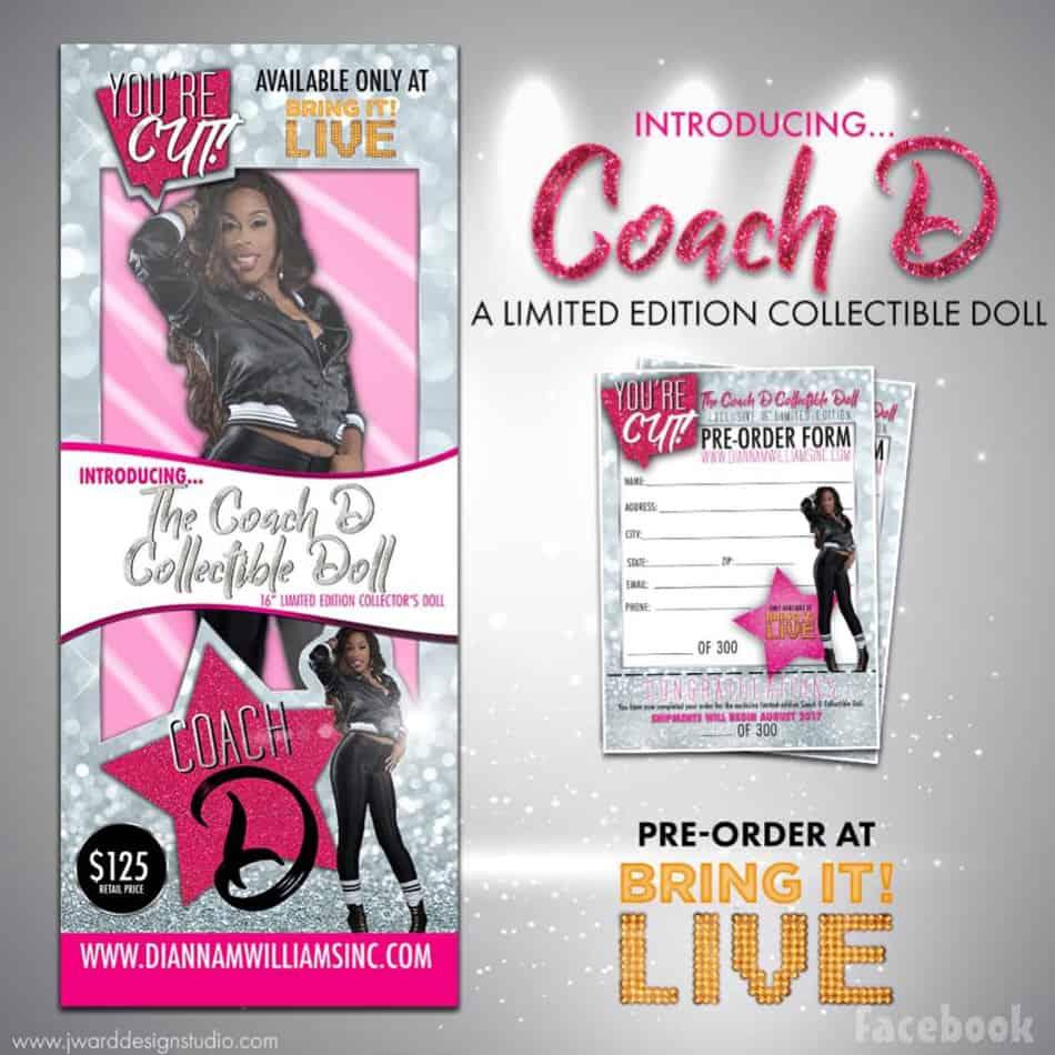Bring It Coach D Barbie doll