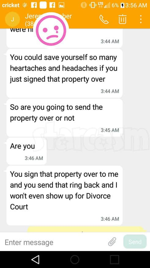 Return To Amish Carmela and Jeremiah Raber divorce texts part 2
