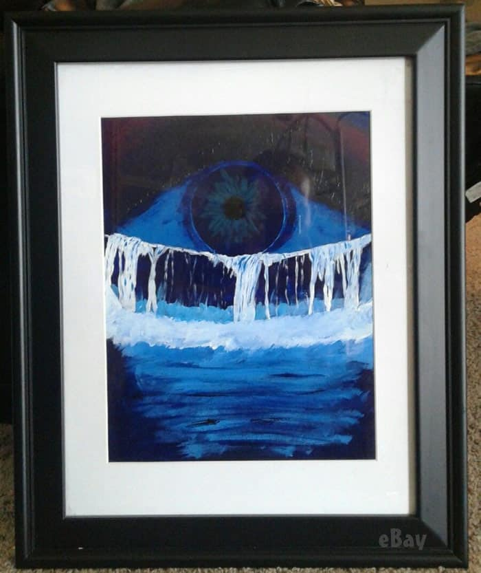 Jeremiah Raber painting eyeball crying a river