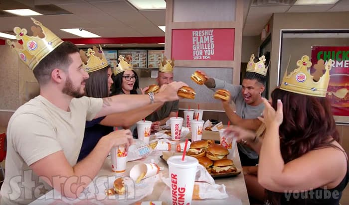 Jersey Shore Burger King video