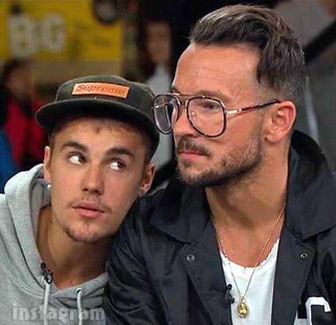 Justin Bieber and Pastor Carl Lentz together on Instagram