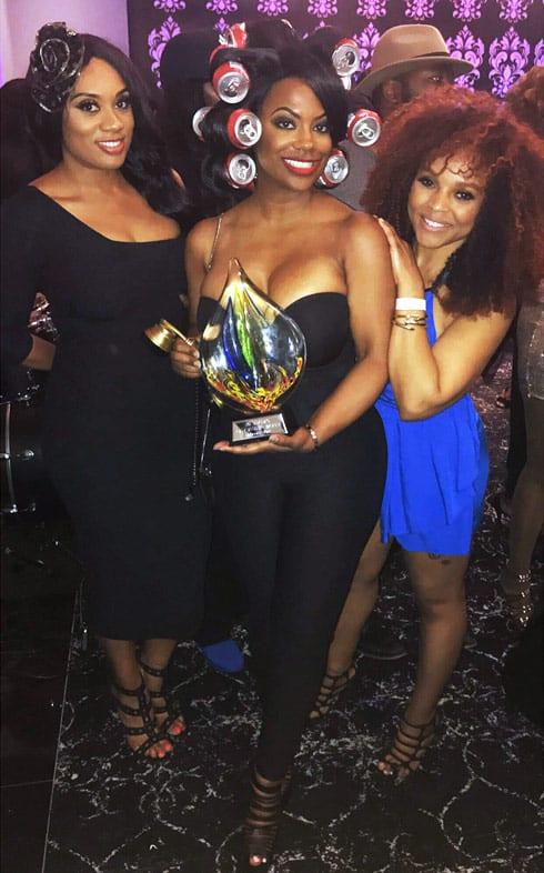 Kandi Burruss Coke can rollers trophy