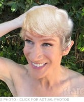 Kathy Griffin with Donald Trump hair