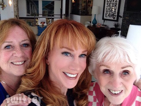 Photo of Kathy Griffin with her sister Joyce
