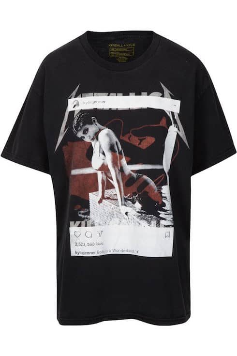 Kendall and Kylie's Metallica shirt 2