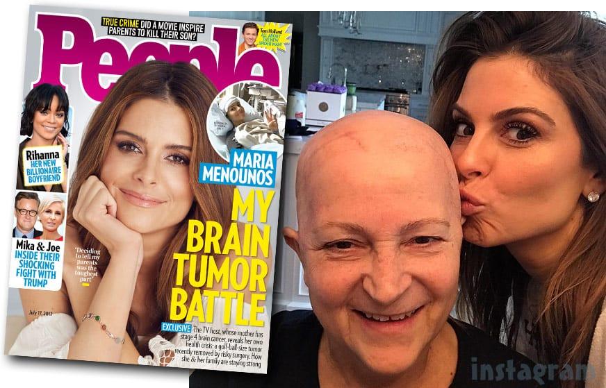 Maria Menounos brain tumor diagnosis while caring for mom Litsa