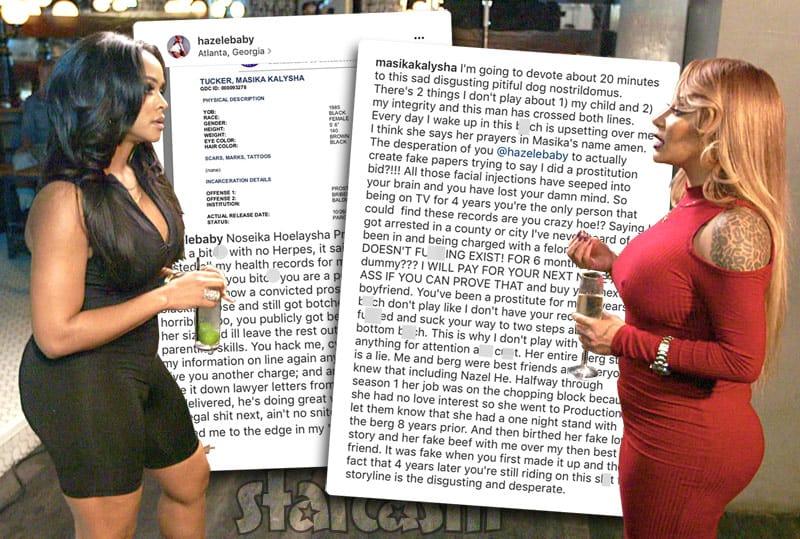 Masika Kalysha and Hazel-E together feud