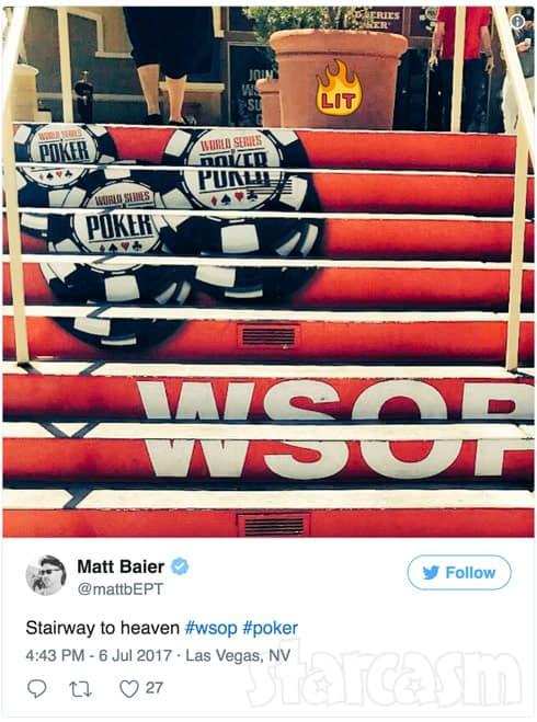Matt Baier WSOP tweet