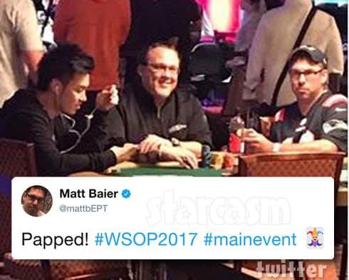 Matt Baier playing poker at The World Series of Poker Main Event