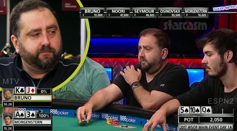 Teen Mom Matt Baier's poker buddy Jeff aka Jeffrey Bruno at the World Series of Poker