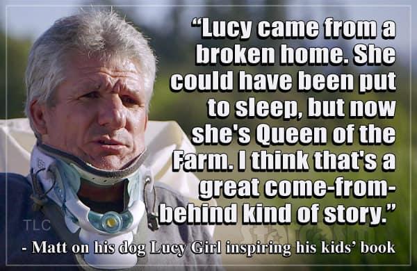 Matt Roloff childrens book Little Lucy Big Race quote