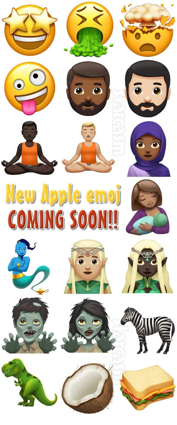 New Apple emoji 2017
