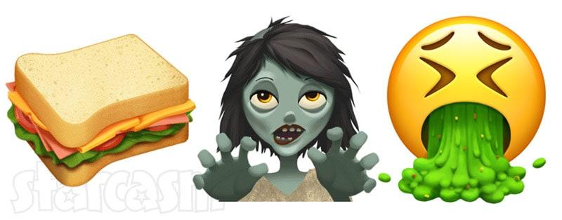 New Apple emoji sandwich zombie vomit