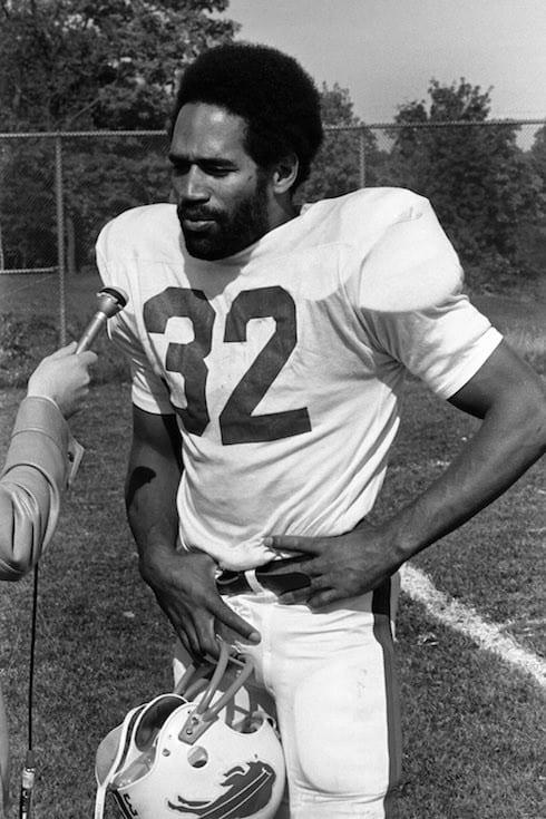O.J. Simpson takes part in Buffalo Bills team practice in Buffalo, N.Y. in October, 1975. Michael Peake/Toronto Sun/QMI Agency