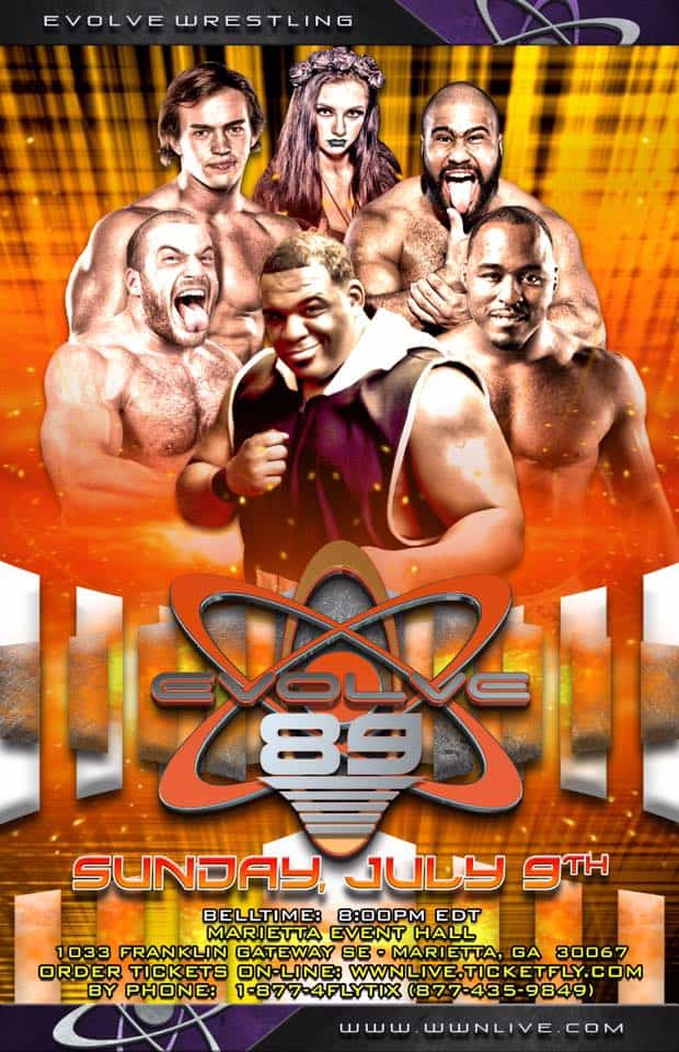 Priscilla Kelly EVOLVE 89 wrestling poster