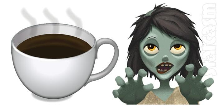 coffee zombie emoji