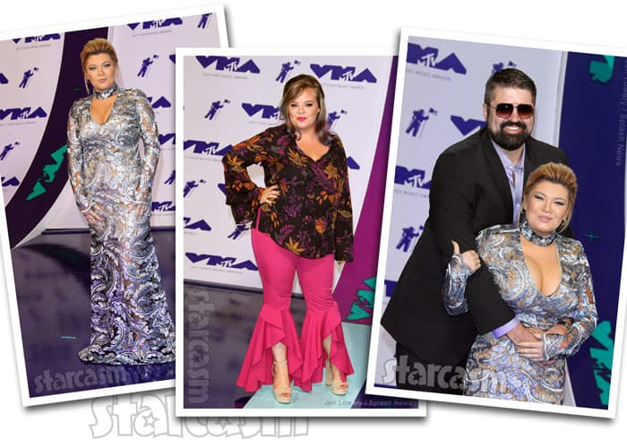 Amber Portwood boyfriend Andrew Glennon and Catelynn Lowell at the 2017 MTV Video Music Awards