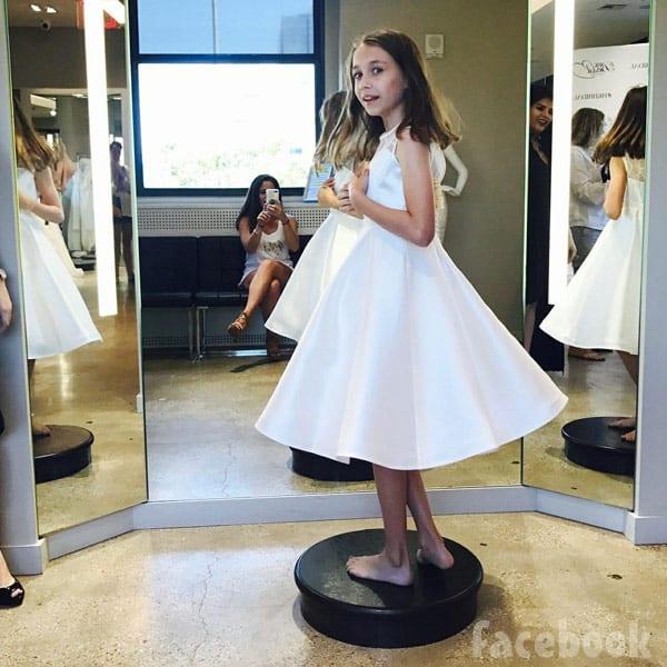 David Eason's daughter Maryssa flower girl dress for Jenelle Evans' wedding