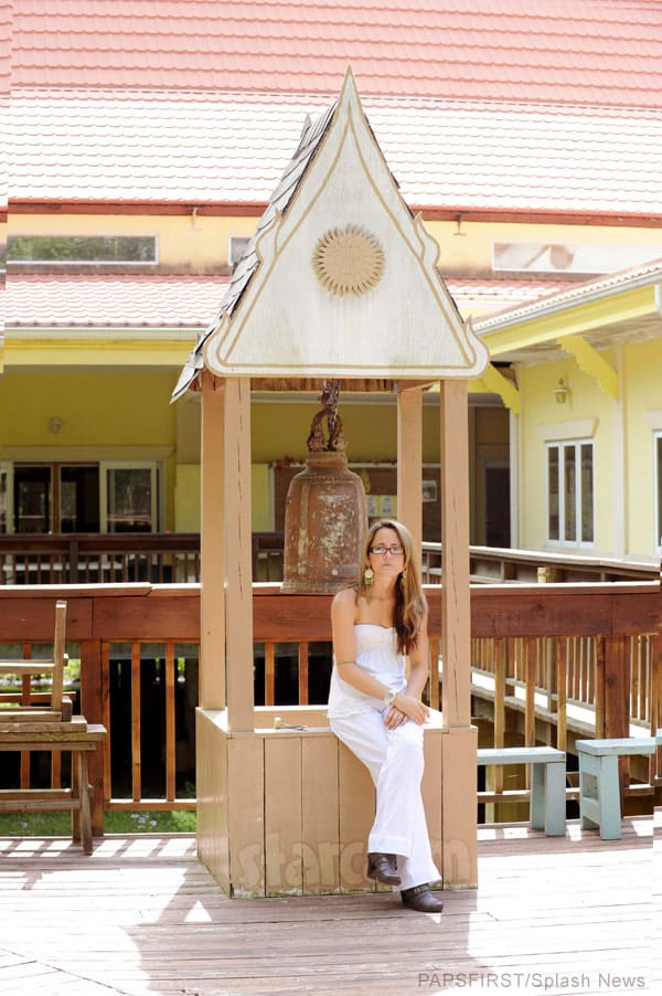 Jenelle Evans Buddhist monastery photo