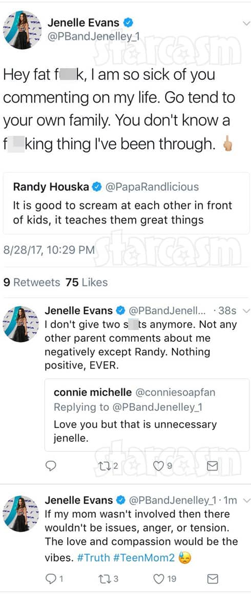 Jenelle Evans Randy Houska tweets