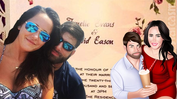 Jenelle Evans and David Eason wedding invite
