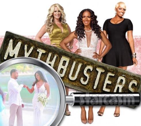 Kenya Moore wedding fake? Mythbusters Kim Zolciak Sheree Whitfield and NeNe Leakes are on the case!