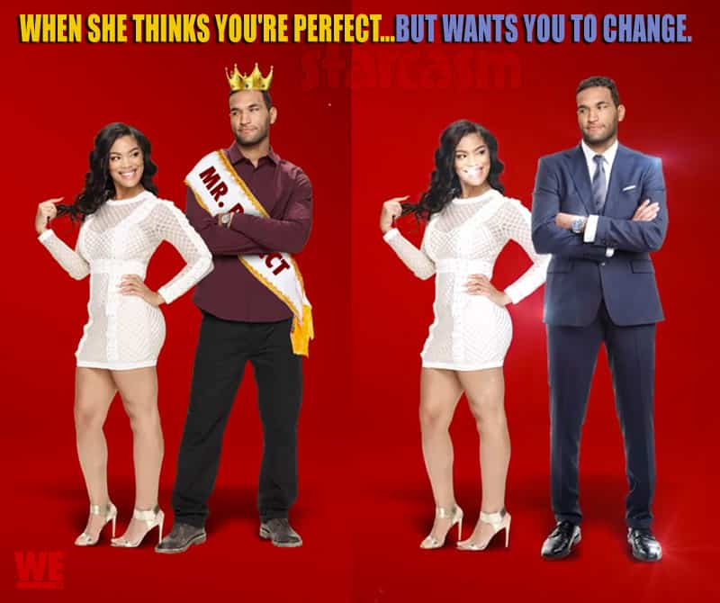 Marriage Boot Camp Reality Stars Mehgan James and DeAndre Perry from Bad Girls Club