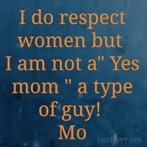 Mohamed Jbali text graphic I do respect women