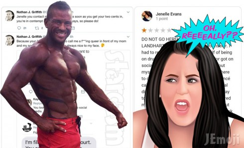 Nathan Griffith and Jenelle Evans Twiter fight 2017