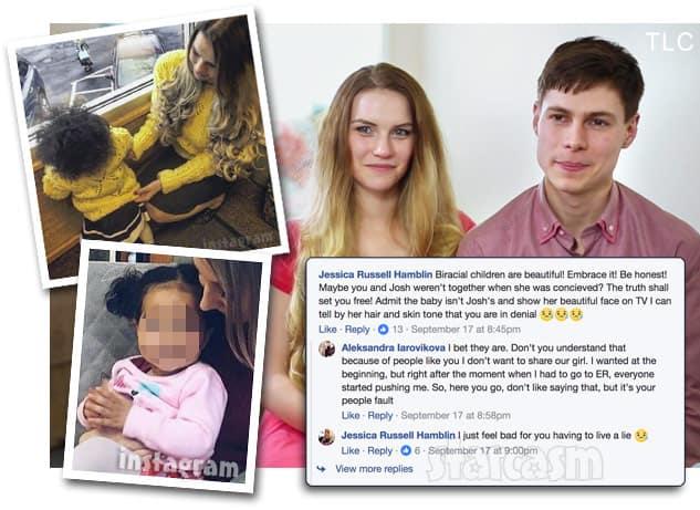 90 Day Fiance Aleksandra and Josh Strobel's daughter Kaya biracial controversy