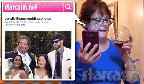 Barbara Evans Jenelle's wedding