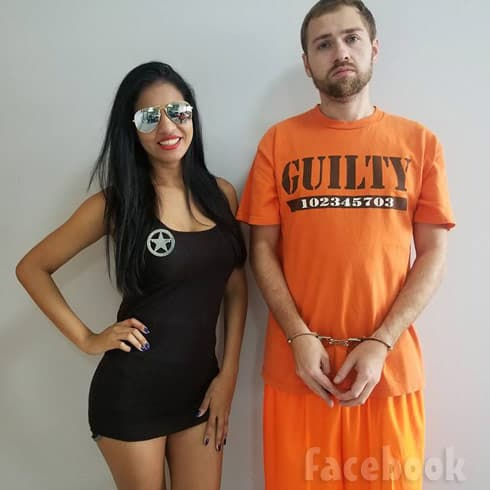 Before the 90 Days Paul and Karine sexy cop and convict costumes