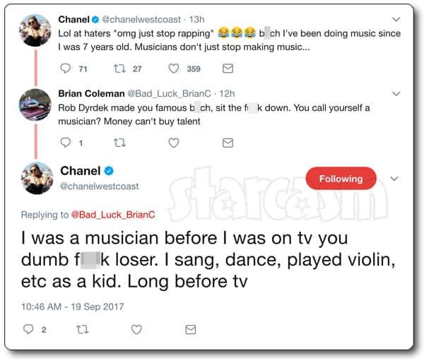 Chanel West Coast Charlamagne tweet 2017