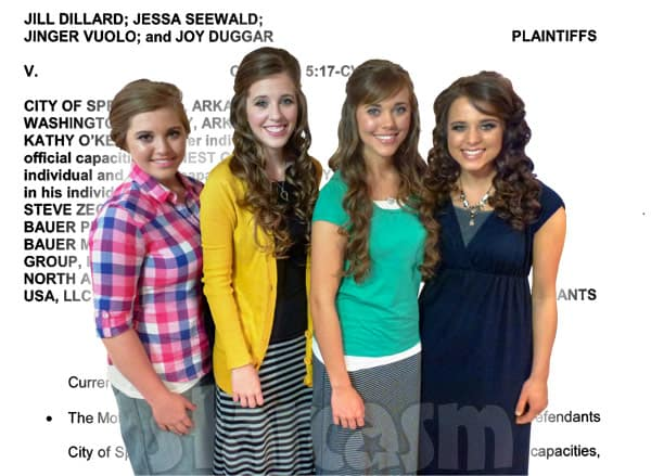Duggar sisters lawsuit update Josh Duggar molestation scandal