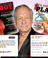 Hugh Hefner Kim Kardashian Paris Hilton