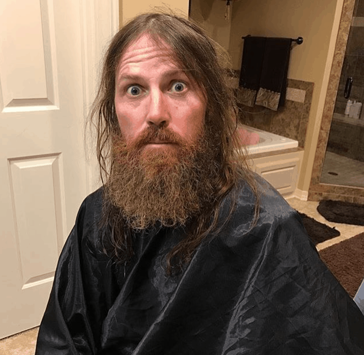 Jase Robertson shaved his beard! Video & photos of the bare faced ...