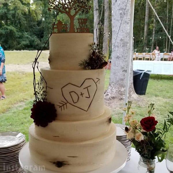 Jenelle Evans wedding cake
