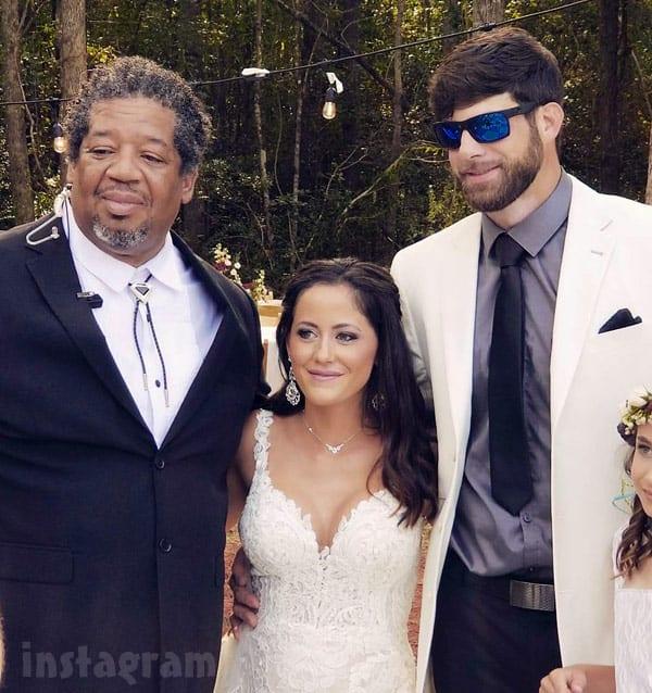 Jenelle Evans wedding photo with David Eason