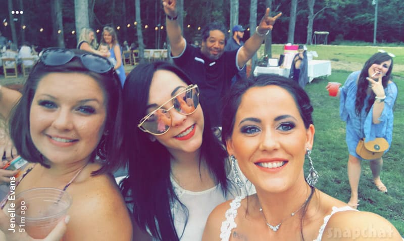 Jenelle Evans wedding selfie with ex best friend Tori Rhyne
